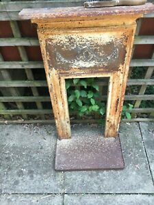 Small Victorian ? cast iron bedroom fireplace , for restoration 22 x 38 x 5 inch