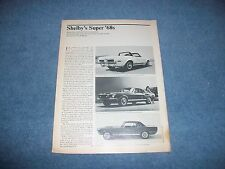 "1968 Shelby GT350 GT500 Vintage Info Article ""Shelby's Super '68's"" Mustang"