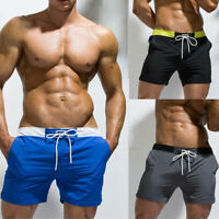 Casual Men's Gym Sports Shorts Trunk Beach Swimwear Brief Drawstring Short Pants