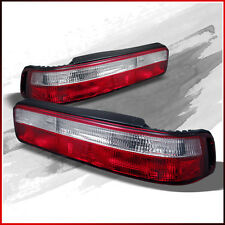 Fits 90-93 Acura Integra 2DR Coupe JDM Red Clear Tail Lights Rear Brake Lamps