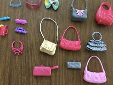 Lot Of Barbie & Other Doll Purses Sunglasses Hair Clips - See Pics