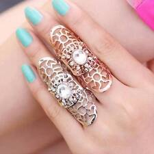 New Fashion Punk Rings Rock Scroll Hollow Metal Full Finger Claw Rings