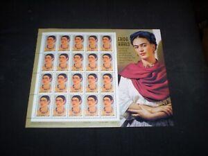 Complete Sheet of 20 (34¢)  Frida Kahlo Stamps