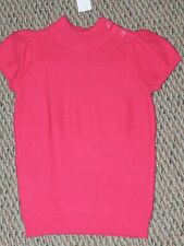NWT Gymboree Sunflower Smiles Hot Pink Sweater Large L 10-12