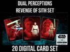 DUAL PERCEPTIONS REVENGE OF THE SITH 20 CARD SET Topps STAR WARS DIGITAL TRADER