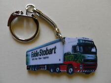 EDDIE STOBART WHITE TRUCK & TRAILER LORRY KEYRING. NEW. KEY RING