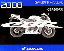 2008 HONDA CBR600RR MOTORCYCLE OWNERS MANUAL -CBR 600 RR-CBR600 RR-HONDA