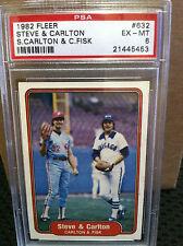 1982 Fleer # 632 Steve & Carlton PSA EX/MT 6                    21445453