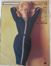 Retro Patons Knitting Book 716: Ladies Fashion: Pullovers Jackets Slinky Dress +