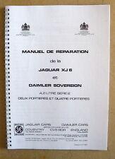 Manuel d'atelier Jaguar XJ 6 série 2  en français