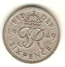 UK, Great Britain - 1949  - Sixpence Wedding Birthday