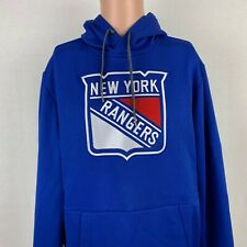 Adidas New York Rangers Embroidered Logo Hoodie Sweatshirt NHL Climawarm Size M