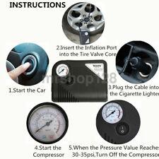Auto Tire Inflator Car Air Pump Compressor Electric Portable DC 12V Volt 150 PSI