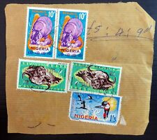 NIGERIA Animal Definitives Used on Piece with Faults BG597