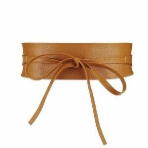 Women Waist Belt Elastic Pu Leather Fabric Slimming Body Corset Wide Cummerbunds