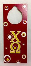 Chi Omega Door Hanger Sorority Chapter College Dorm Decor Wood Door Plaque
