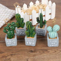 Cute Card Note Holder Cactus Resin Plant Decoration Card Holder Officesupplie FE