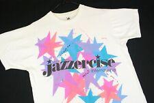 Vintage 90s Jazzercise Stars Rainbow Color T Shirt Single Stitch Mens L