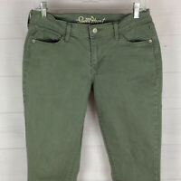 Old Navy The Sweetheart womens size 6 stretch faded green mid rise slim jeans