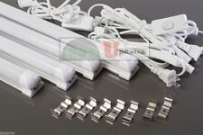 4x 4ft 20watt integrated work shop frosted LED Tube with 6ft Power cable Switch