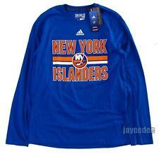 $30 Adidas New York Islanders Nhl Go To Performance Long Sleeve Shirt Blue L