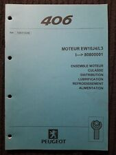 (307MA) Manuel d'atelier PEUGEOT 406 - Moteur EW10J4/L3, culasse, distrib...