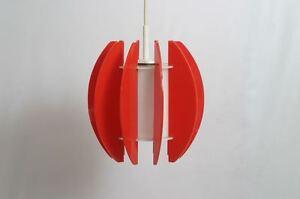 70er Design Pendelleuchte Acryl Space Age