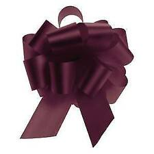 "Burgundy Flora-Satin Pull Bow 5.5"" Case of 50, 84634"