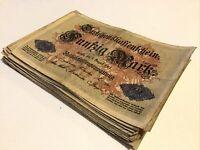 Germany Banknote 1/4 Bundle. 25 X 50 Mark. Dated 1914. P49a. Vintage Banknotes.