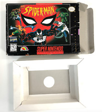 SPIDER-MAN BOX and Cardboard Insert Only NO GAME! Super Nintendo SNES RARE BOX