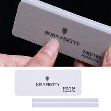 Born Pretty 1/5/10Pcs Sponge Nail File Washable Sanding Smoothing Padded File