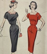 1950s Advance Vintage Sewing Pattern 8642 Dress Bust 35