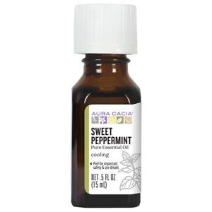 Aura Cacia  Pure Essential Oil Sweet Peppermint   5 fl oz  15 ml