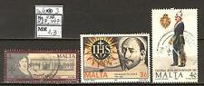Malta A18 used 1990-91 3v Emblem millitary Uniform