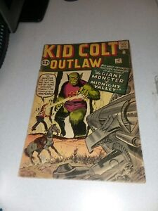 Kid Colt Outlaw 107 marvel atlas comics 1962 silver age jack kirby monster cover
