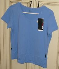 "Women's XL 19.5"" MEXXSPORT T Shirt Top V Neck Tee mexx sport Blue"