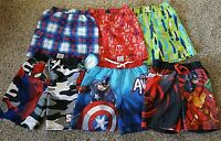 NWT BOYS OP PRINTS OR MARVEL COMIC SWIM TRUNKS SIZE 4-5, 5, 6-7