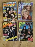 Lot Of 4 Vintage Kiss Magazines