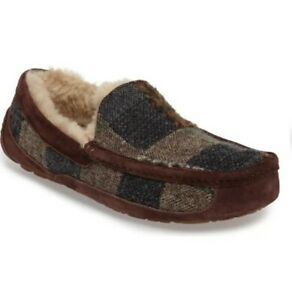 NEW UGG M ASCOT Patchwork Wool Suede Moccasin