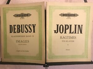 Debussy / Joplin: Klaviermusik (2 Hefte)