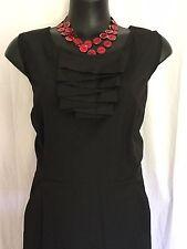 SIZE 16 SMART FLATTERING BLACK DETAILED DRESS