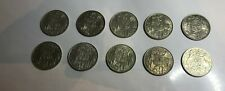 1966 Silver Round 50 Cent Coins x 10