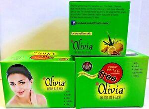 2 X 60g Olivia Herb Bleach Cream  -Natural Cream Bleach Sensitive Skin US Seller