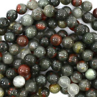 """African Blood Agate Round Beads Gemstone 15"""" Strand 4mm 6mm 8mm 10mm 12mm"""
