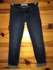 ABERCROMBIE & FITCH Women's Juniors PERFECT STRETCH BRETT Crop Jeans 0S W25 L29