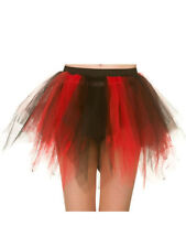 Tutu Skirt Red & Black Fancy Dress Dance Burlesque Moulin Hen Night Halloween