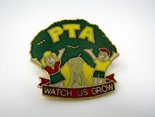 Vintage Collectible Pins: PTA Watch Us Grow Tree Children Design