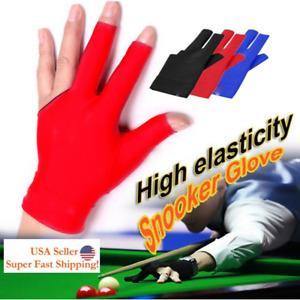 3 Finger Glove Billiard Cue Pool Gloves Snooker Left Hand Nylon 3 Colors