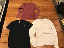 LOT OF 3 ABERCROMBIE & FITCH T-SHIRTS ADULT SIZE SMALL S