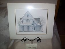 "GINGERBREAD ""Queen Anne's Lace"" Print by Walter Campbell Canadian Artist NEW Sld"